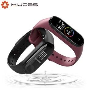 Image 1 - Pour Mi Band 4 sangle pour Xiaomi Mi Band 5 4 3 Silicone Bracelet pour Miband 3 sangle Bracelet Pulseira accessoires mondiaux