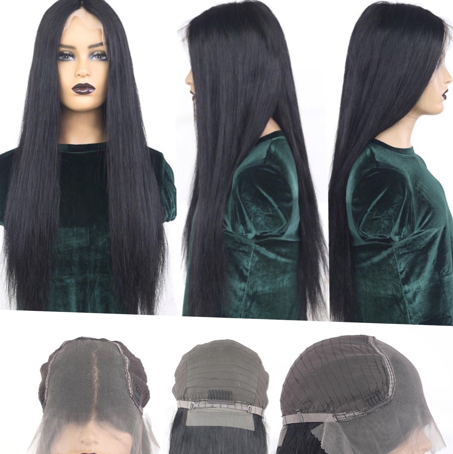 【IJOY】13x6 Lace Front Wig 14''-30'' Straight Human Hair Wigs Lace Front Brazilian Wig Natural Hair 150% Remy Pre-Plucked Winter