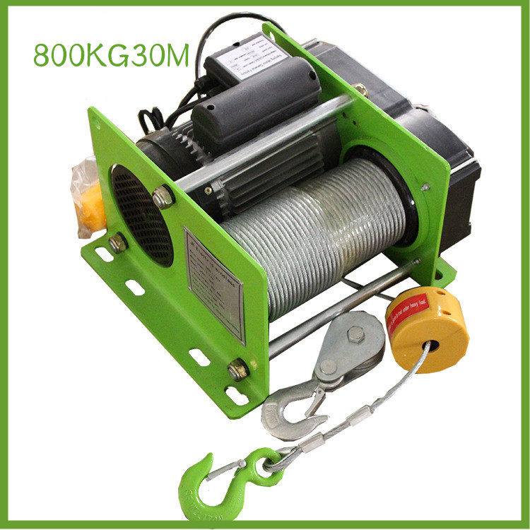 800KG30M Small Wire Rope Hoist Mini Electric Hoist Small Hoist For Decoration Of Household Buildings