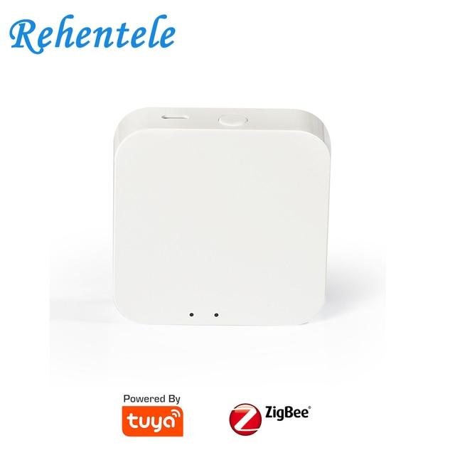 Mini Hub passerelle connectée Tuya ZigBee, domotique, systèmes multifonctionnels