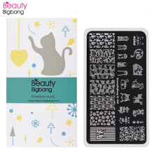 цена на BeautyBigBang 6*12cm Stamping For Nails Cat Dog Image Plate Nail Stamping Plates Nail Art Template Mold BBB XL-008