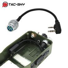 TAC SKY AN/PRC 148 152 152A 워키 토키 DIY 커넥터 U 283 U 283/U 6 핀 플러그 kenwood 소켓 어댑터