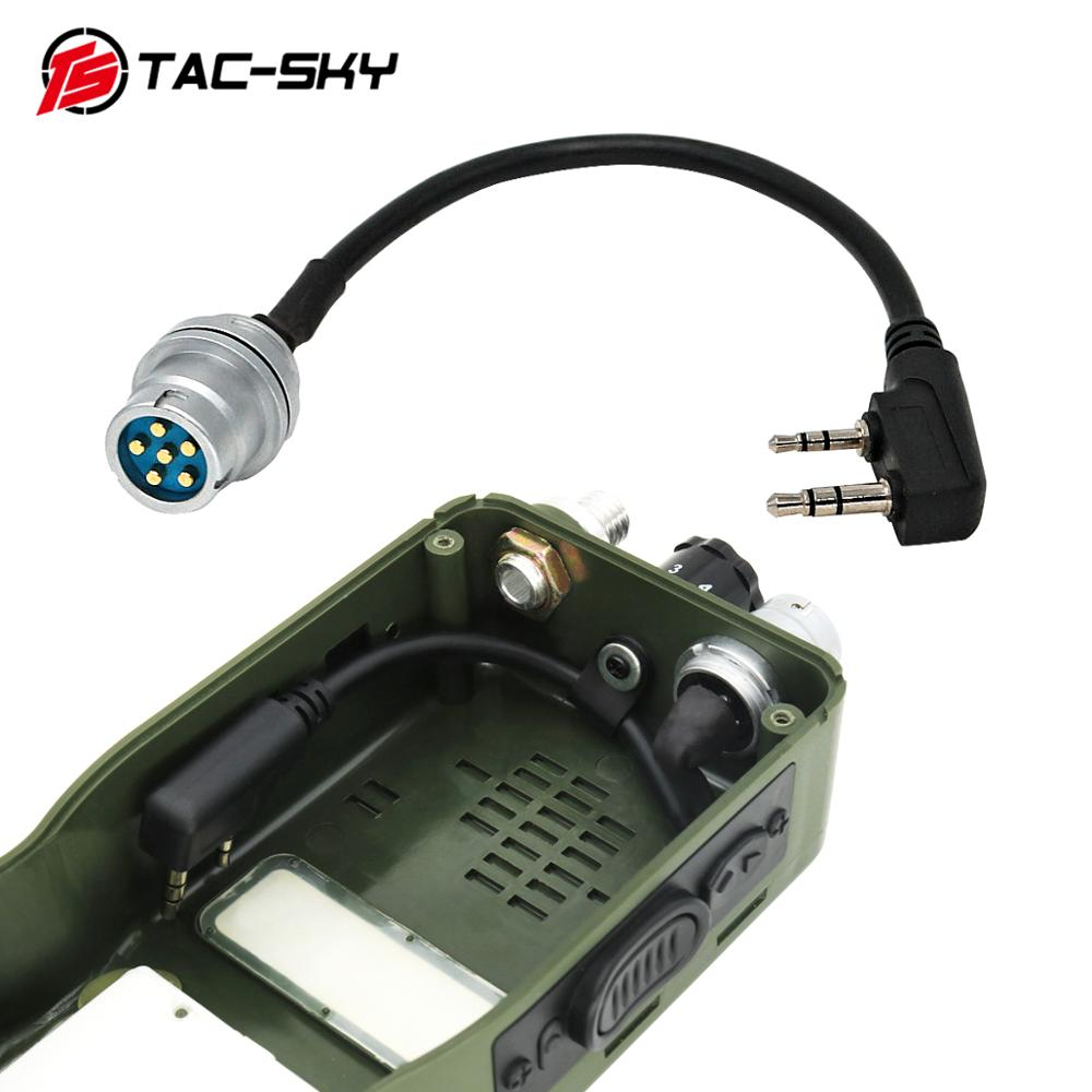 TAC-SKY AN/PRC 148 152 152A Walkie-talkie DIY Connector U 283 U-283/U 6-pin Plug To Kenwood Socket Adapter