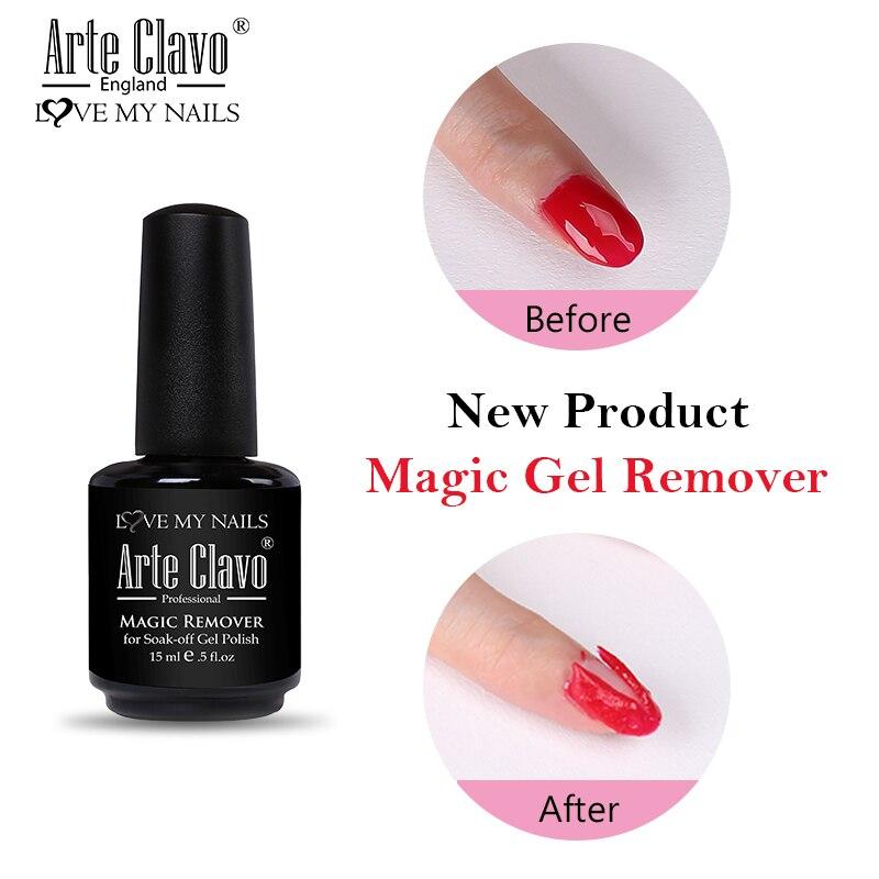 Arte Clavo UV LED Gel Nail Polish Burst Magic Remover Soak Off Nail Art Primer Acrylic Clean Degreaser For Nail Lacquer Gel Lak
