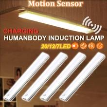Portable Wireless PIR Motion Sensor Light Infrared Induction Lamp Super Bright Light Bar Closet Cabinet Wardrobe Stairway Drawer