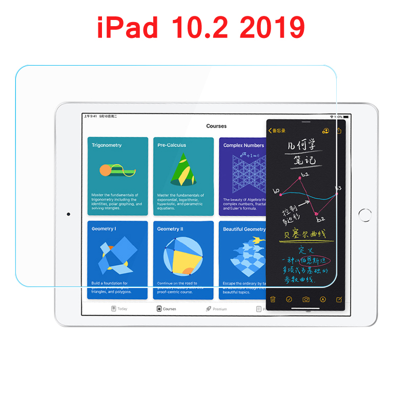 Tempered Glass For IPad 10.2 2019 7th Gen Generation A2197 A2200 A2198 A2232 Screen Protector Film