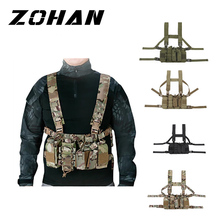 New Type Hunting Tactical Vest Magazine Pouch Easy Chest Rig Military Carrier Vest MultiCam Green Black Sand Multi Pockets cordura multicam tropic d mittsu strategic tactical d3 chest rig stg051123