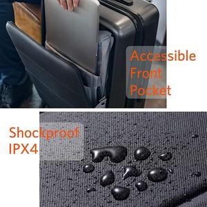 Image 5 - NINETYGO 90FUN לשאת על מזוודות עם ספינר גלגלי 20 אינץ Hardside Hardshell TSA תואם מזוודה מול כיס נעילת כיסוי