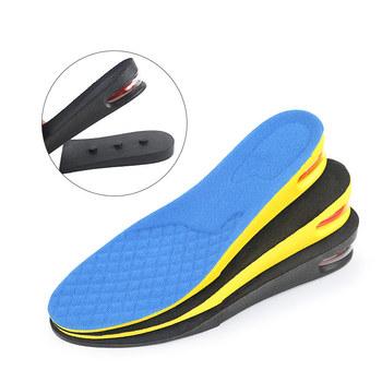 5cm wkładka podwyższająca z poduszką powietrzną wysokość podnoszenia regulowana wkładka do butów z wycięciem wkładka wyższa wkładka chłonna podnóżek tanie i dobre opinie GDZHLbag CN (pochodzenie) 1 cm-3 cm Średnia (B M) WOMEN Stałe ANTYPOŚLIZGOWE Mocne Zwiększające wysokość orthopedic shoes