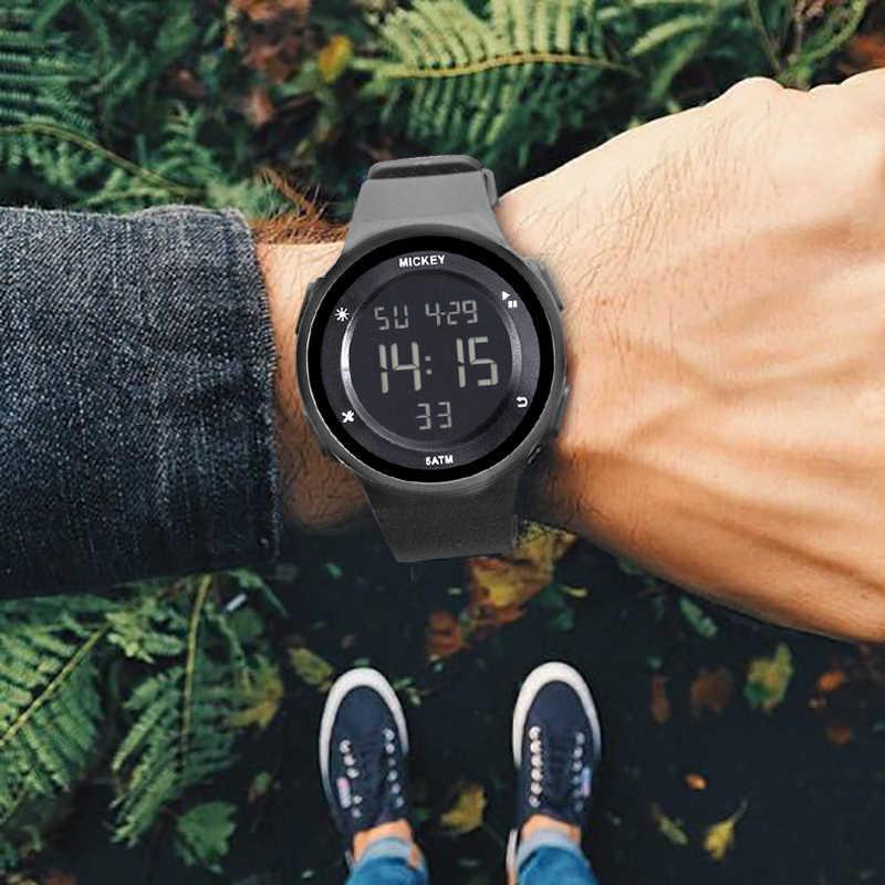 Дисней Спорт студент, дети, часы Дети часы мальчики девочки часы Детские светодиодные цифровые наручные часы электронные наручные часы для мальчика