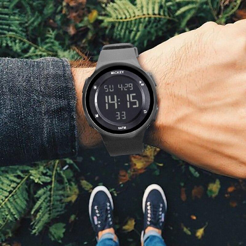 DISNEY Sport étudiant enfants montre enfants montres garçons filles horloge enfant montre-bracelet numérique LED montre-bracelet électronique pour garçon