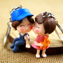 Fashion Creative Cute Doll Couple Keychain Lady Bag Pendant Jewelry Car Mens Best Charm Gift