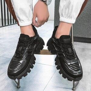 Image 1 - Phổ Biến Nam Giày Huấn Luyện Viên Nam Sapato Masculino Đi Bộ Giày Krasovki Đèn Nam Đen Tenis Zapatillas Hombre