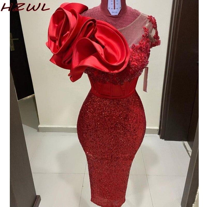 Шикарные красные платья для выпускного вечера с блестками и