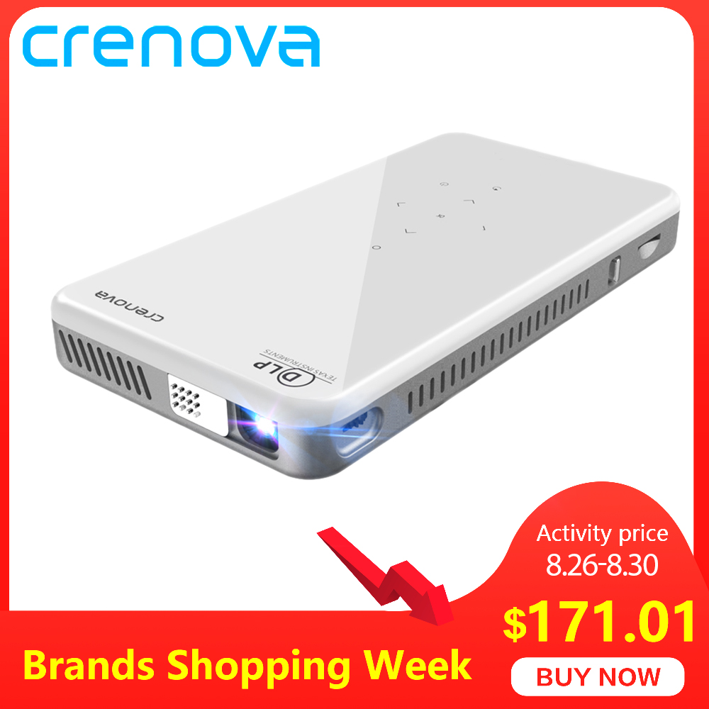CRENOVA 2019 Newest Mini Projector X2 With Android 7.1OS WIFI Bluetooth (2G+16G), Support 4K Video Portable 3D Projector Beamer Трубопроводный кран