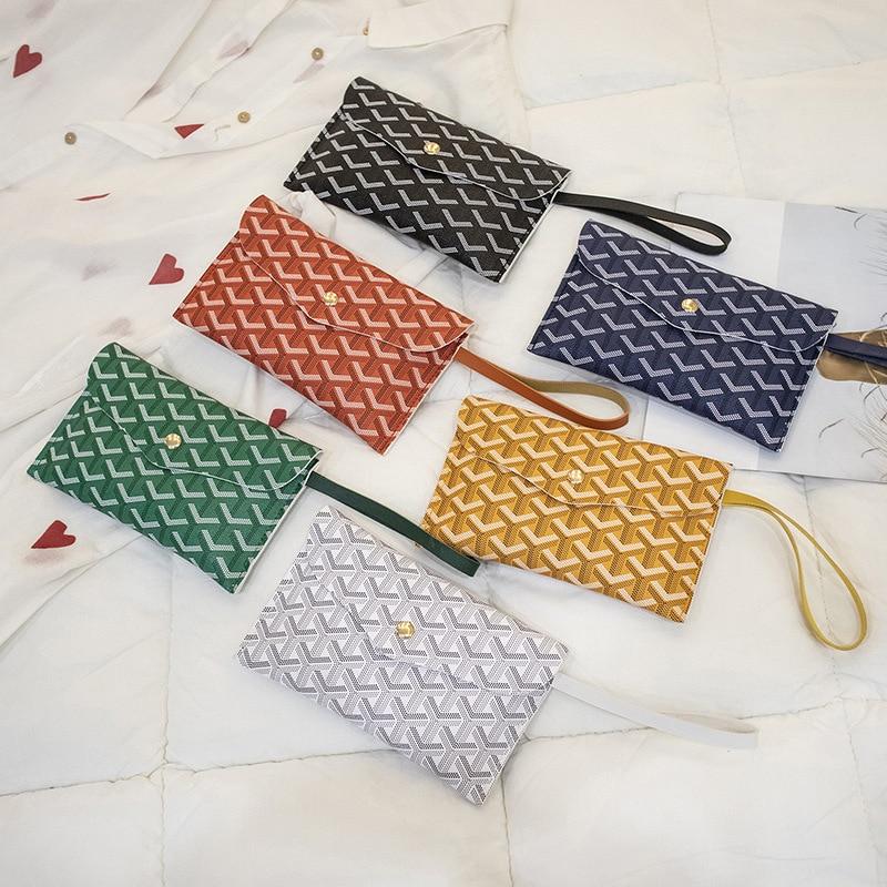 Wallet Women Phone Bag Brand Designer Female Card Pu Long Simple Wallets Purses Bear Ladies Slim Geometric Portfel Girls