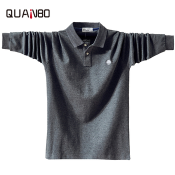 Big Size 7 Colors men Long Sleeve Polo Shirt New Autumn Winter Men Fat Fashion Casual Loose Cotton Tops Solid Color  - discount item  50% OFF Tops & Tees