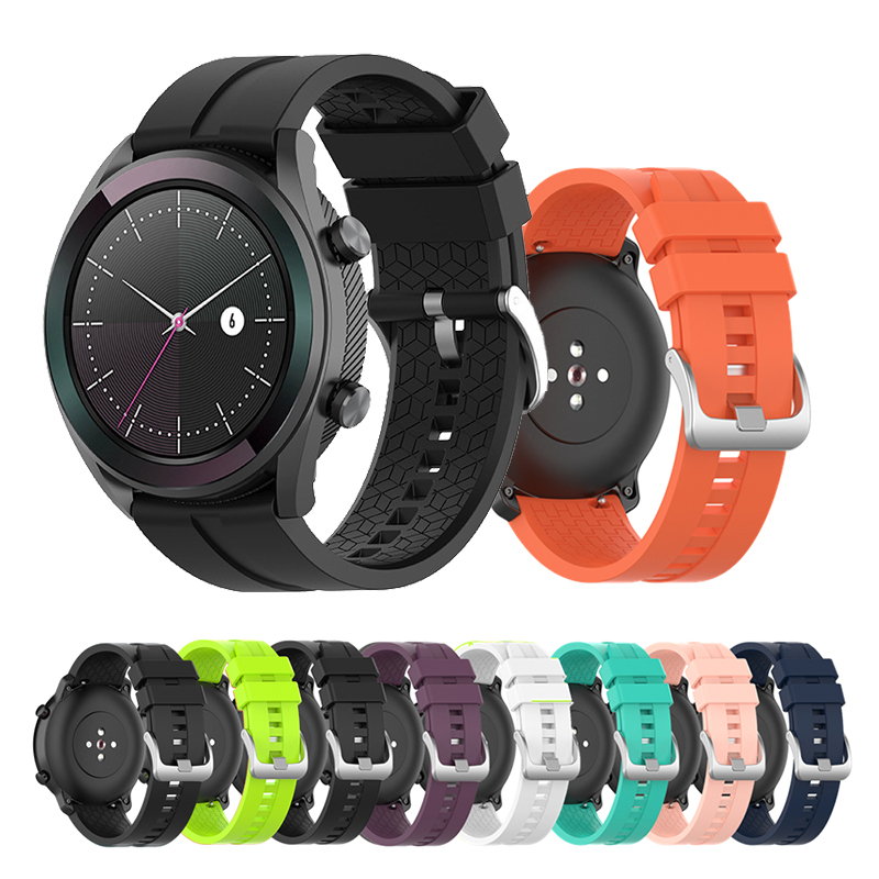 20mm 22mm Silicone Band For Amazfit Gtr Watch Strap Xiaomi 47mm Samsung Galaxy Gear S3/S2 42mm/46mm Straps
