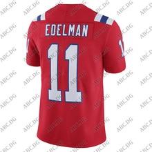 Football-Jersey England American Customized-Stitch Julian Edelman New Red Youth Kid ALTERNATE