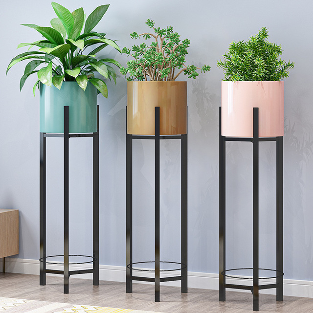 Iron Flower Stand Indoor Home Balcony Decoration Storage Shelf  Living Room Simple Flower Pot Green Dill Plant Stand Rack
