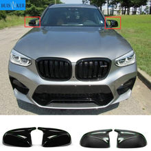 M look Carbon Fiber Mirror Cover for BMW X3 G01 X4 G02 X5 G05 Side Door Rearview Cover Caps 2018 2019 2020+