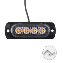 1pcs 12V 4LEDs Waterproof Car Emergency Beacon 12W Signal lightWarning Light Hazard Flash Strobe Bar for Truck