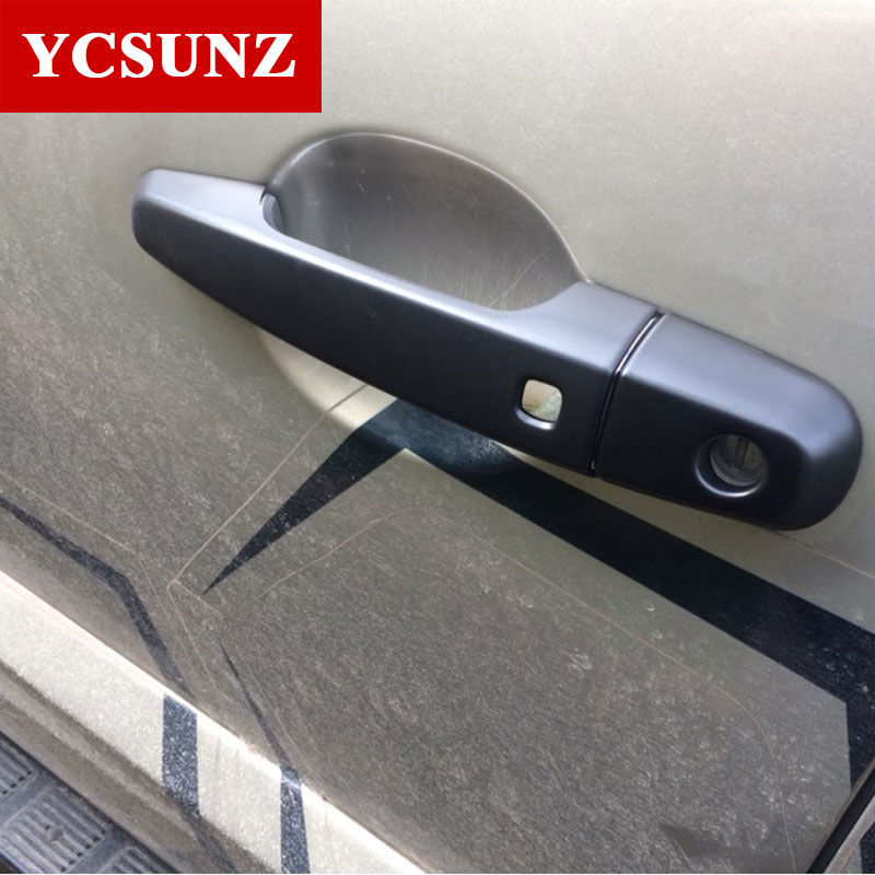 2015-2019 For Mitsubishi L200 Triton Black Door Handles Covers Trim For Mitsubishi L200 Triton Pickup L200 Handle Covers Ycsunz image