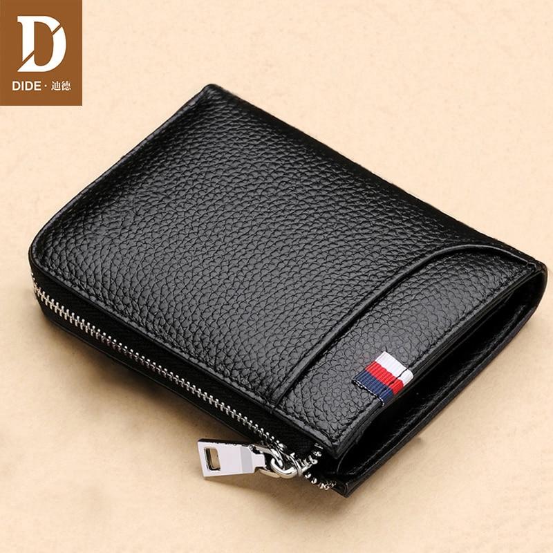 DIDE Black Genuine Leather…