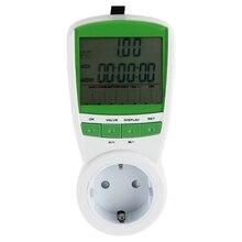 Энергию Мощность метр ватт вольт ампер частота мониторы анализатор 230 В 50 Гц штепсельная вилка европейского стандарта