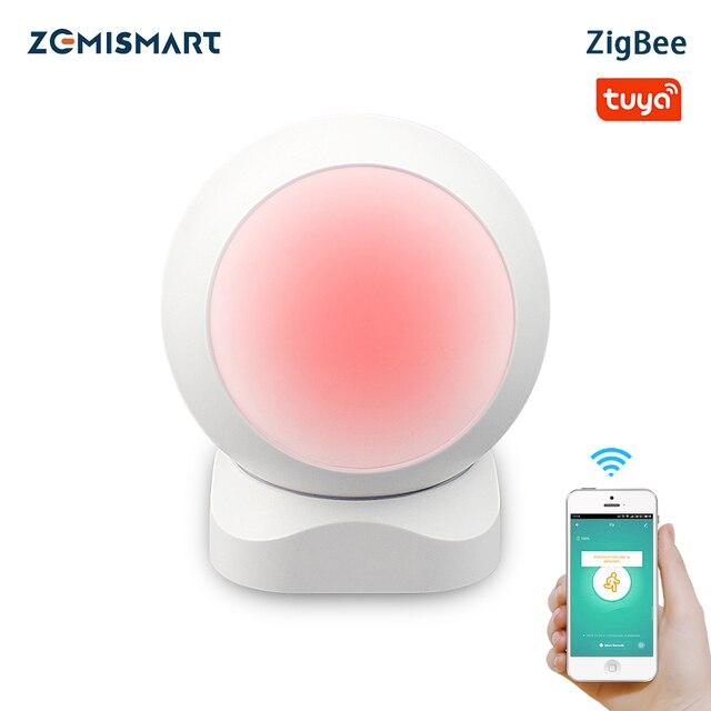Zemismart Tuya Zigbee PIR אינפרא אדום PIR Motion זיהוי חכם חיישן אבטחה האלחוטית גלאי מערכת