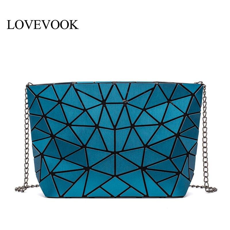LOVEVOOK Crossbody-Bags Messenger-Bag Luxury Handbags Women Desiger for with Retro Geometric