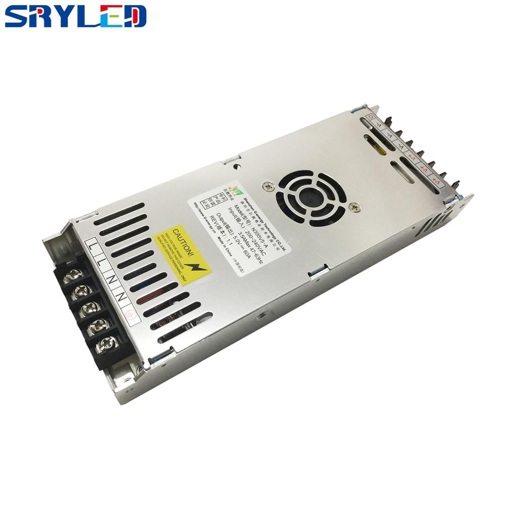 LED Display Power Supply G-energy 5V-60A Untra Slim Power Supply
