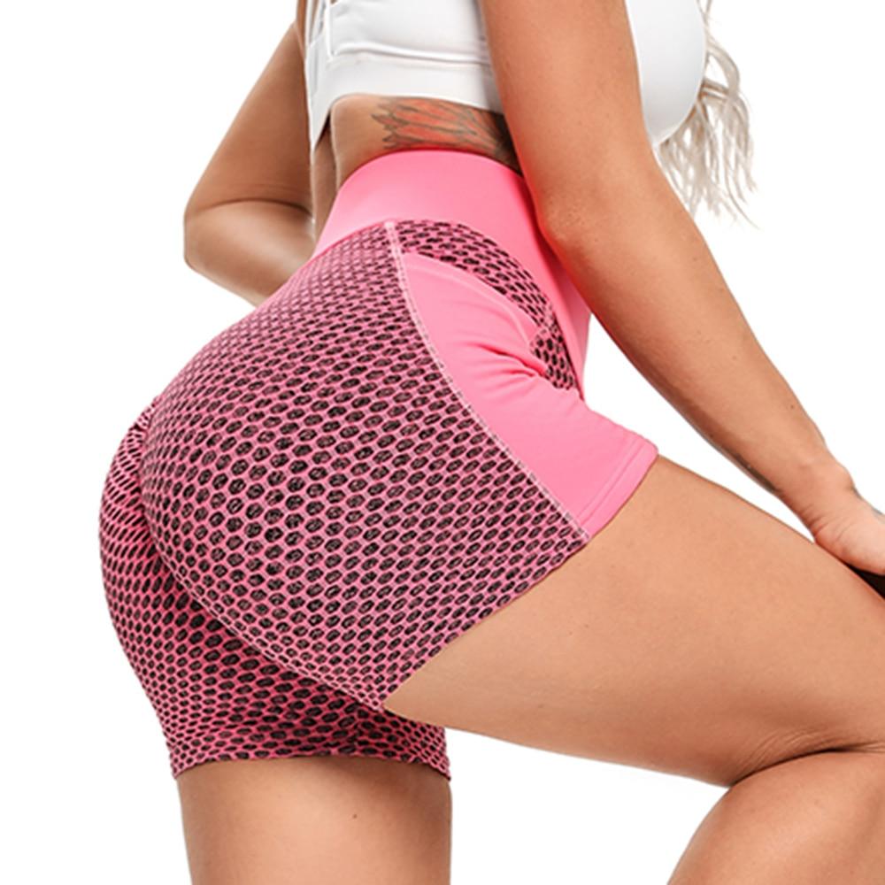 Women Mesh Push Up Gym Shorts 24