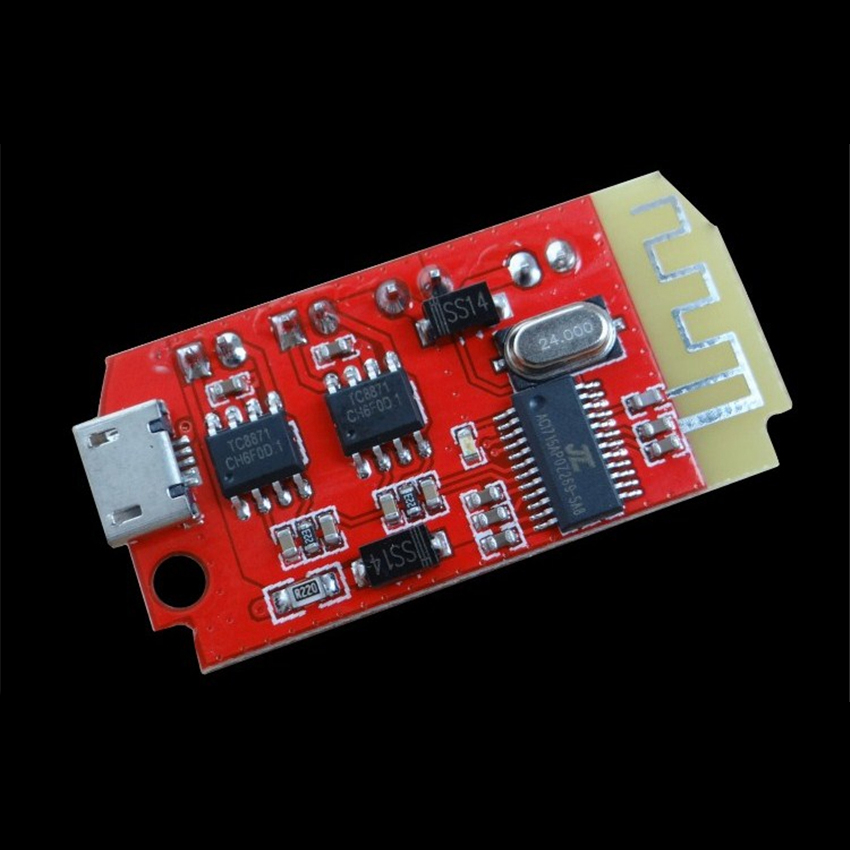 CT14 Mini DC 3.7-5V Digital Audio Amplifier Board, Modified 5W+5W Class F DIY Bluetooth Speaker Sound Music Module For Micro USB