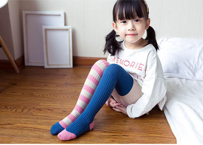 Soft Breathable Baby Winter Warm Cotton Pantyhose Tights Children Stocking Shosiery Clothing Tights & Stockings For 0-10Yrs