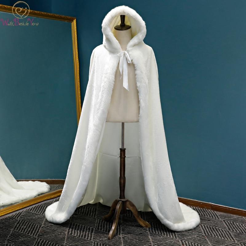 2019 New Winter Long Fashionable Boleros Women Faux Fur Stoles High Quality Luxurious Bolero Coat Bridal Capes Wedding Jackets