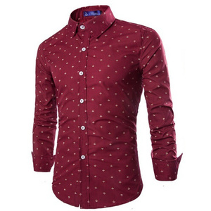 Image 3 - Zogaa 2019 Men Fashion Casual Long Sleeved Small Arrow Shirt Business Dress Shirt Slim Fit Male Social Brand Men Soft Clothing