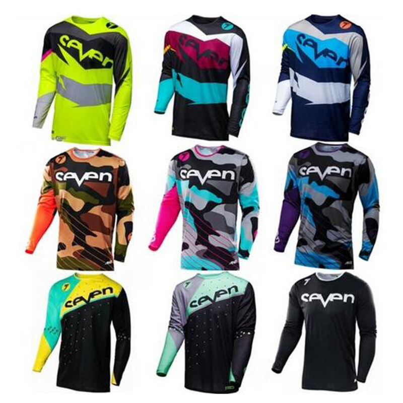Jersey Moto-Cruz Bicicleta Mx Mtb Larga Ropa Gp Camisa-De-Manga Ropa-Deportiva Siete