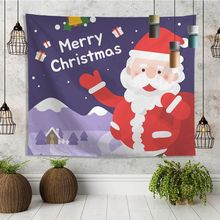 цены Tapestry Wall Hanging Digital Printing Christmas Home Decoration Wall Tapestry All-purpose Wall Decor for Festival Celebration