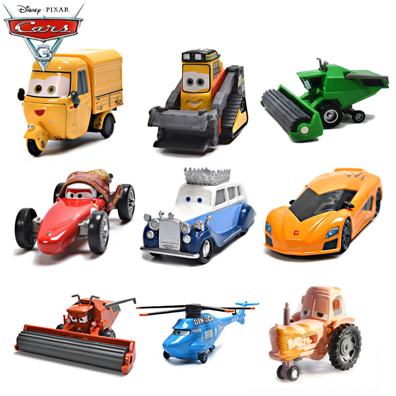 Cars Toys Harvester Frank and Tractor Diecast Toy Car 1:55 Loose Kids Vehicle