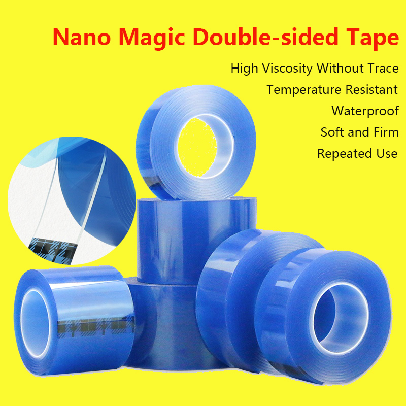 Magic Tape Nano Tape Nanometer Magic Double-sided Tape Waterproof High Viscosity Transparent Universal Double-sided Tape 1/2/3M