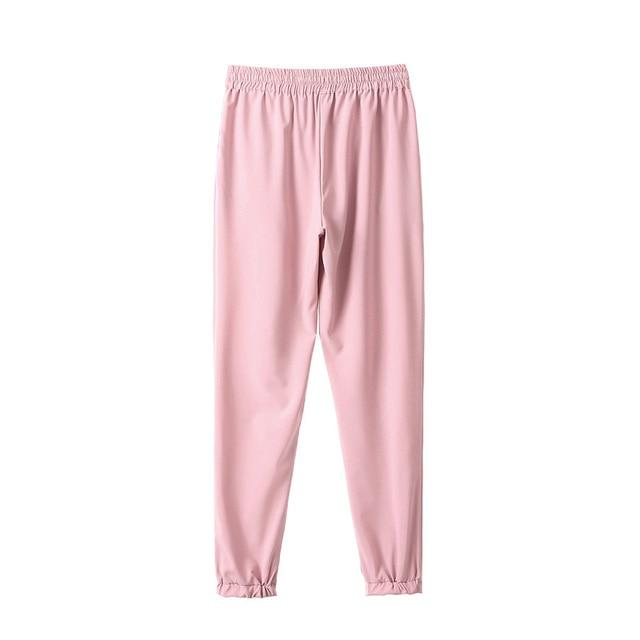Spring 2021 women's trousers, harem pants, seven-color elastic waist women's trousers, lace-up casual women's pants, new product 3