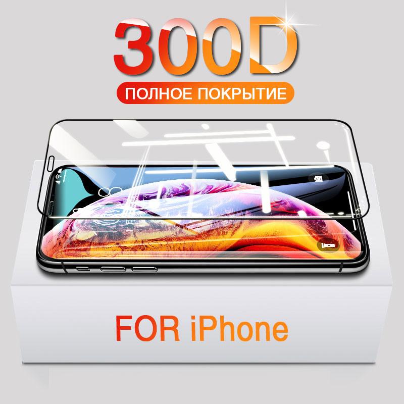 Full Cover Tempered Glass On The For IPhone X XR XS Max Glass 11 Pro Max Screen Protector Glass On For IPhone 7 8 6 6s Plus Film
