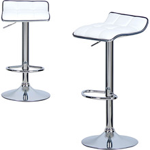 Bar Stools Chair Dining-Room Furniture Swivel-Bar Faux-Leather Well-Padded-Seat Adjustable
