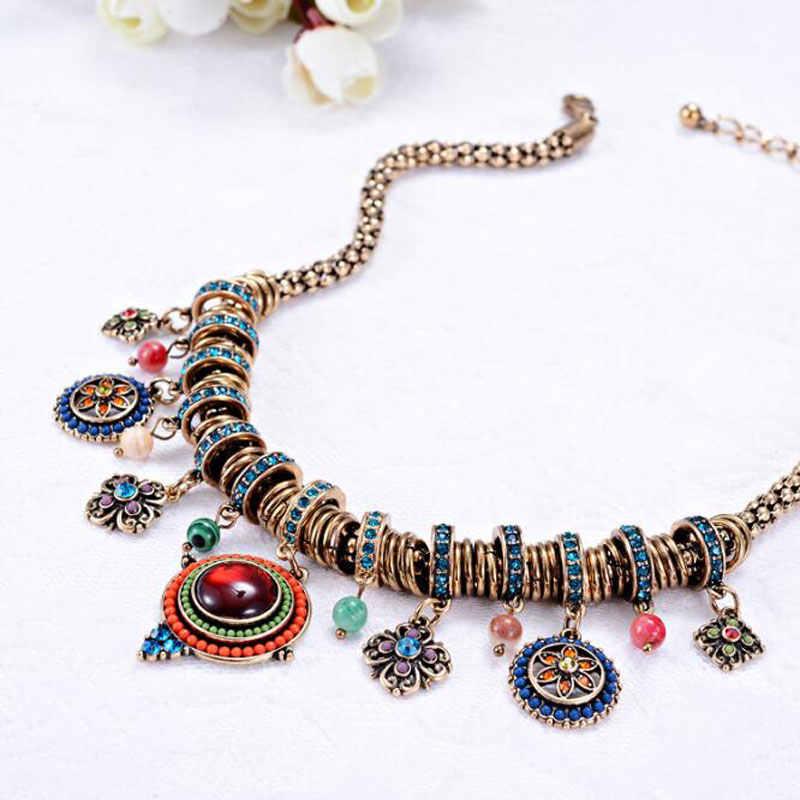 Ataullah etniczne boho muti-layer kobiety naszyjnik Charms czechy Chokers naszyjniki łańcuch sweter w stylu Vintage wisiorek biżuteria NW074