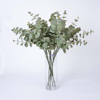 1pc Artificial Rattan Fabric Eucalyptus Pulp Money Leaf Wedding Birthday Party Living Room Decor Fake Green Plant Leaf 1