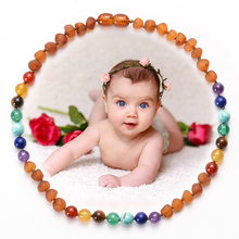 Baltic Amber Teething Necklace for Baby Bead Jewelry Natural