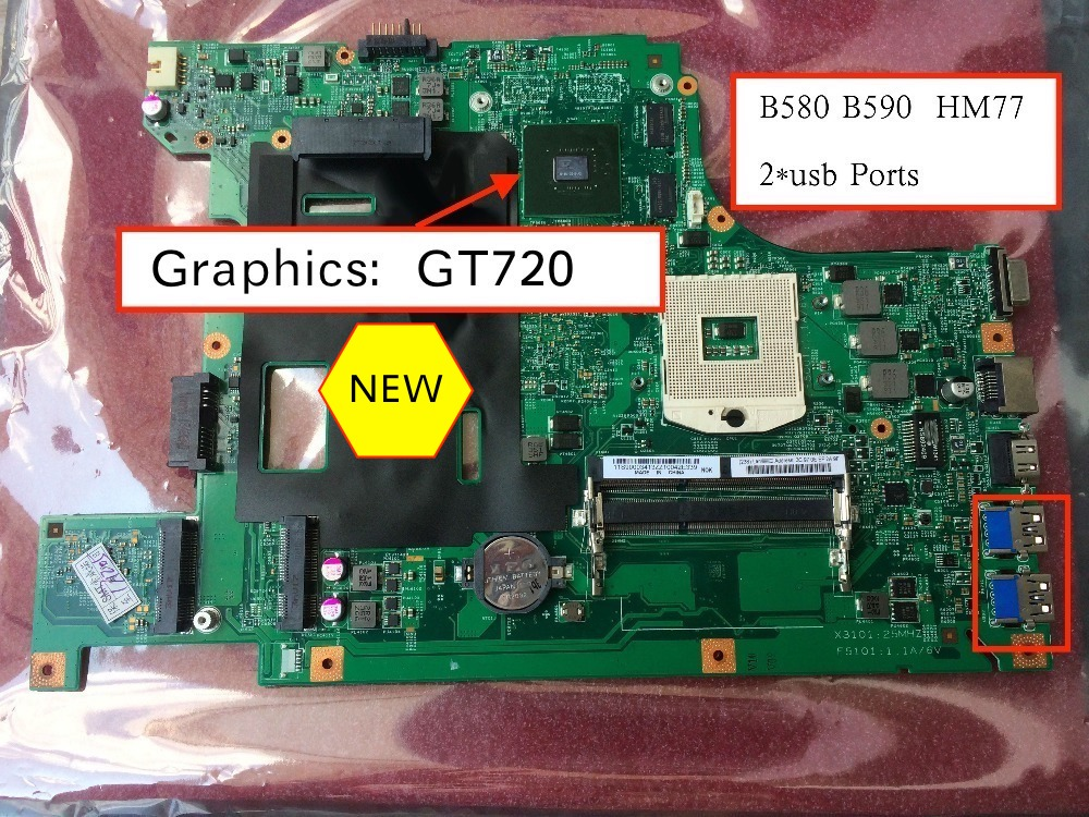 Бесплатная доставка Новинка для Lenovo B590 b580 v580c Материнская плата ноутбука с GT720M 1GB GPU