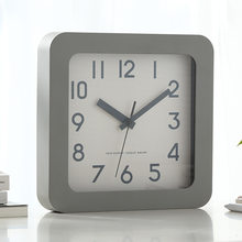 Simple Square 3D Wall Clock Modern Design Minimalism Style Large Desktop Clock Hanging Wall Watch Home Decor 9 inch(China)