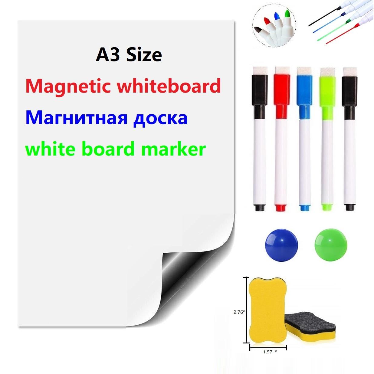 Magnetic Dry Eraser White Board Sheet For Fridge Magnets Kitchen Whiteboard Marker School White Boards Erase Board Kids Board